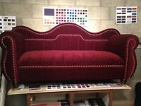 Custom made Couches, Chaise Longue, Queen Anne and Fireside Chairs