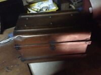 Old Fashioned metal trunk
