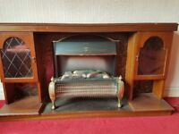 FREE wooden fire surround with electric fire