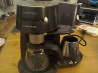 Morphy richards espresso maker with milk warmer and throther