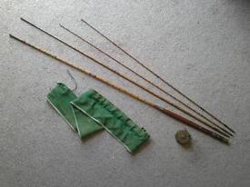 Vintage fishing rod and reel.