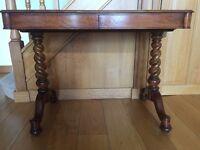 Wood Antique Desk Table Vintage 1850s