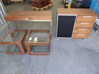 Dwell Furniture Job Lot-Media Cupboard,Desk,Coffee Tables