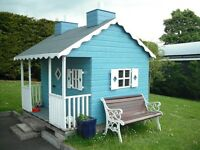 wooden playhouse / wendy house
