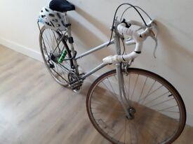 Woman vintage bike