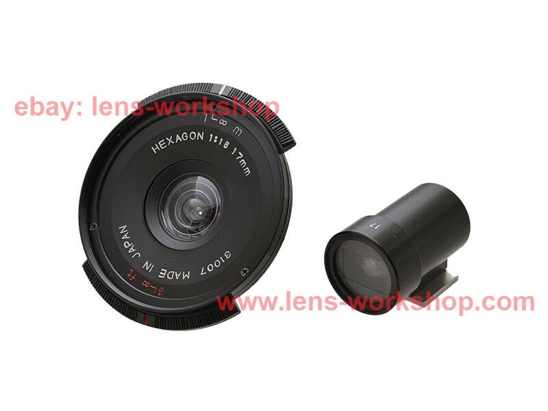 Konica Hexagon 17mm f16 Wide Camera Lens w/ Viewfinder Leica L39 Screw Mount