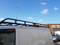 Rhino Modular Van Steel Roof Rack for VW Transporter T5 (03-15) [LWB, Tailgate]