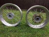 "KTM HUSABERG supermoto wheels rims 17"""
