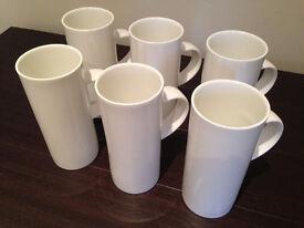 Set of 6 Repeat Repeat Skinny Mugs (unused gift) JUST REDUCED