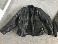 Skintan motorbike jacket size large