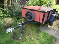 trailer 8 feet by 4 feet flat bed Designed to carry 8x4 flat sheets of timber