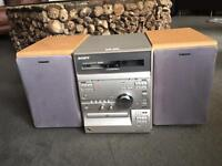 Sony MiniHiFi System with Phono (for iPod/phone) CD and Double Cassette