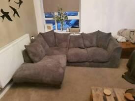 L Shaped Grey Sofa