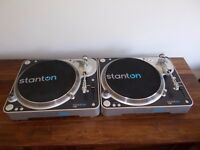 Stanton T80 Direct Drive Turntables/ Technics 1210/1200 alternatives/ uk delivery