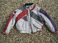 LADIES DAINESE CANVAS MOTORCYCLE JACKET WITH SEPARATE TPRO ARMOURED VEST
