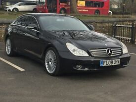 2008 MERCEDES CLS 320 CDI * SAT NAV * BLK LEATHER * S/HISTORY * PART EX * FINANCE * DELIVERY *