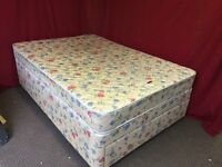 DOUBLE DIVAN BED WITH DRW AND MATTRESS,CAN DELIVER