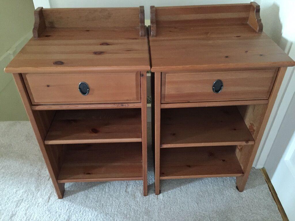ikea leksvik bedside tables in woking surrey gumtree. Black Bedroom Furniture Sets. Home Design Ideas