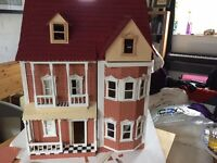 1/12 scale doll house. Construction complete, not internally decorated.