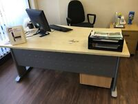 OFFICE DESKS WITH SOLID IRON BASE FOR QUICK SALE