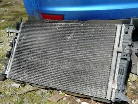 2006 Ford Focus 1.8 Petrol Radiator and Air Con Condenser