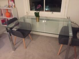 Glass Dining table (6 peoples/perfect conditions)