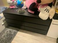 MALM Chest of 6 drawers, black-brown160x78 cm