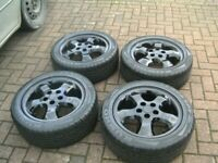 SET 4 , STUNNING, VAUXHALL FACTORY,16 INCH,5 STUD,5 X 110 PCD ALLOYS,CENTRES,MATCHING 205/50/ZR16s