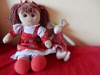 A beautiful girl rag doll and a mouse rag doll for sale