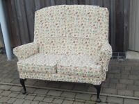 Cottage style two seater sofa settee - immaculate