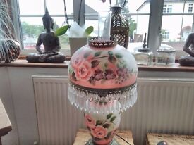 Large Victorian style Hurricane style lamp bought from QVC