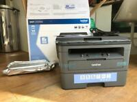 Brother Duplex Monochrome Laser Printer (with scanner) — for home or office