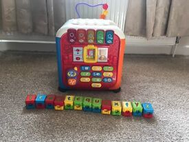 Vtech discovery cube, learning table, alphabet blocks
