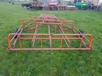 Tractor flat eight bale sledge hay straw