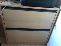 2 draw lockable filing cabinet
