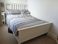 IKEA HEMNES Double Bed with Mattress