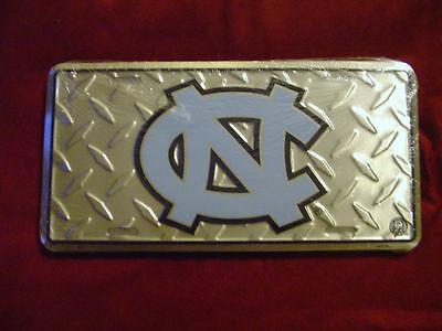 North Carolina Tar Heels Diamond Plate Car License Tag New! ()