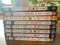 8 Diary of a Wimpy Kid Paperback books