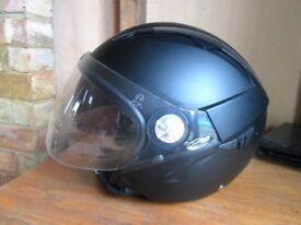 Mat black Nitro X550-JV motorbike helmet - Size: S - Dual Visor