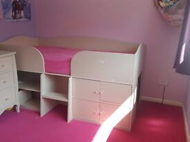 next cabin bed and matching drawers