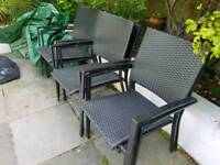 Six garden chairs, good condition