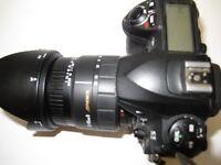fuji s5pro with 28-105 f2,8-4 sigma lens