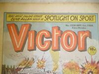 7 VICTOR COMICS FROM MID 80'S + BEANO & ROY OF THE ROVERS COMICS