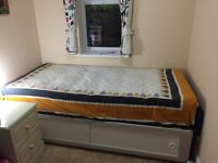 Single bed and single mattress for sale