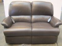 Sherborne Soft Brown Leather 2 Seat Electric Recliner