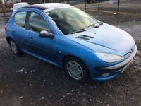 peugeot 206 diesel 50+ mpg low miles cheaper px welcome £395