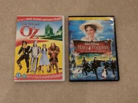 Children's DVD's Wizard of Oz & Mary Poppins