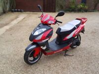 lexmoto gladiator 125cc red/black moped scooter