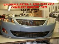 VAUXHALL ASTRA J FRONT BUMPER COMPLETE INC GRILLS 2010 - 2011 - 2012 NEW