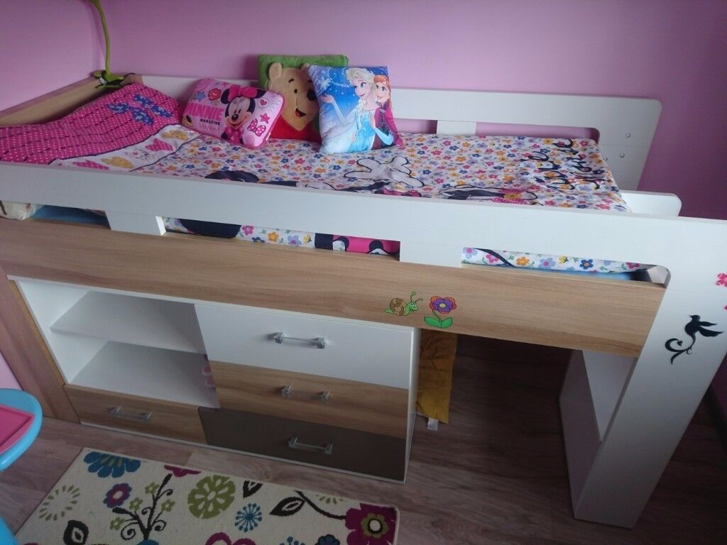 For sale mid sleeper bed and mattress